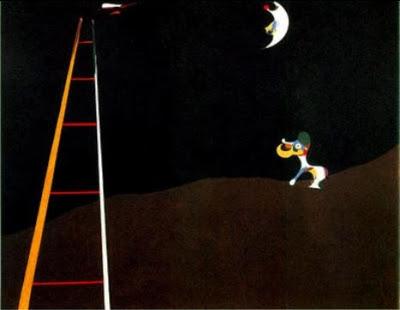 Gos bordant a la lluna (Joan Miró)