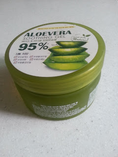 Aloe vera gel for external use