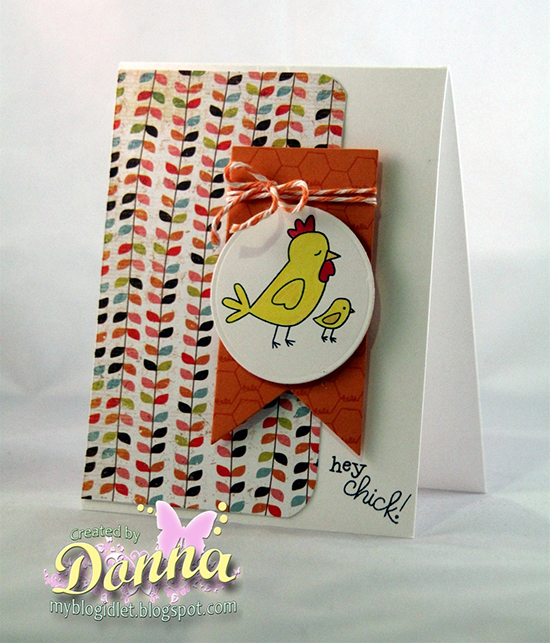 Chicken card by Donna Idlet for Newton's Nook Designs | Chicken Scratches Stamp set