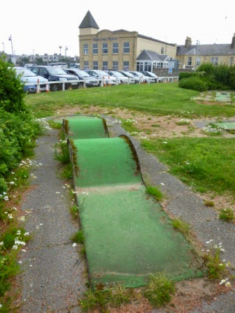 Miniature Golf course on Ayr seafront