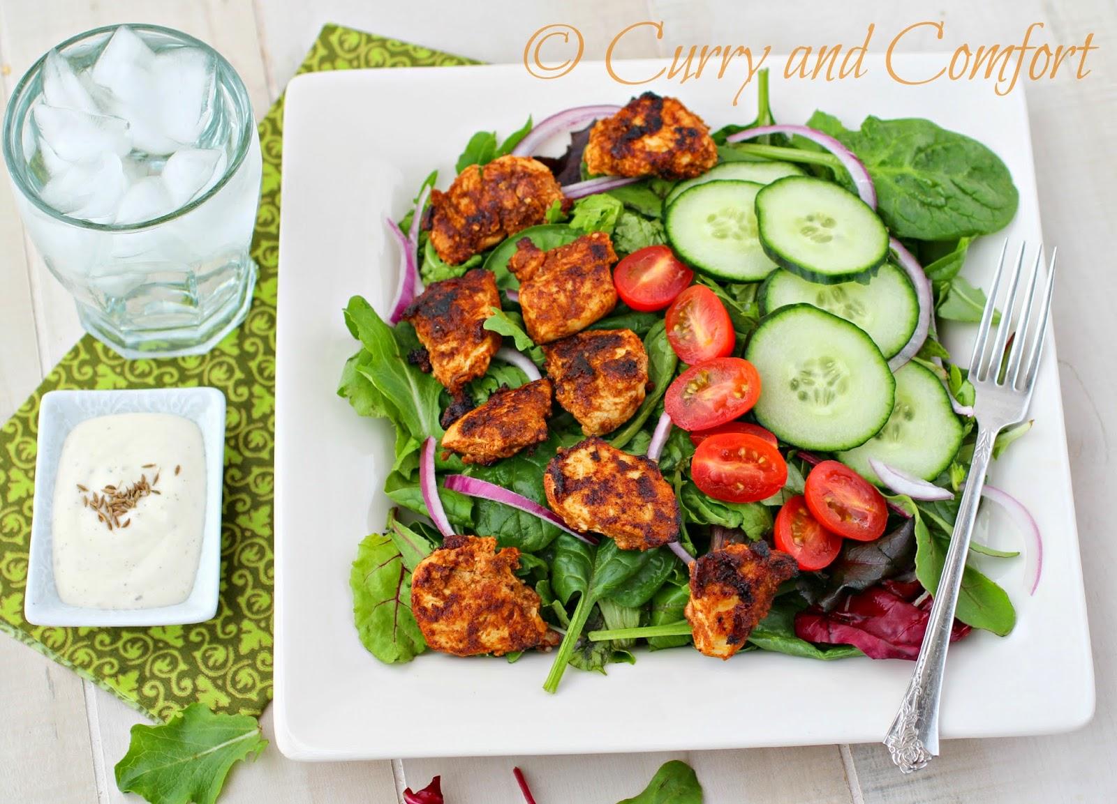 Kitchen Simmer: Chicken Tikka Salad #BloggerCLUE
