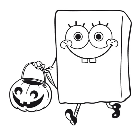 halloween spongebob coloring pages - photo#6