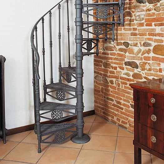 Small scale homes space saving stairs ladders for small for Spiral stair design