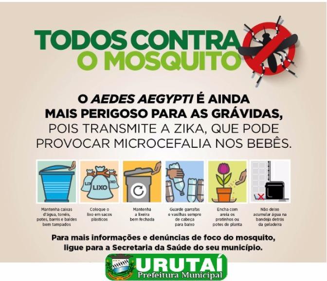 Prefeitura de Urutaí no combate ao Aedes Aegypti