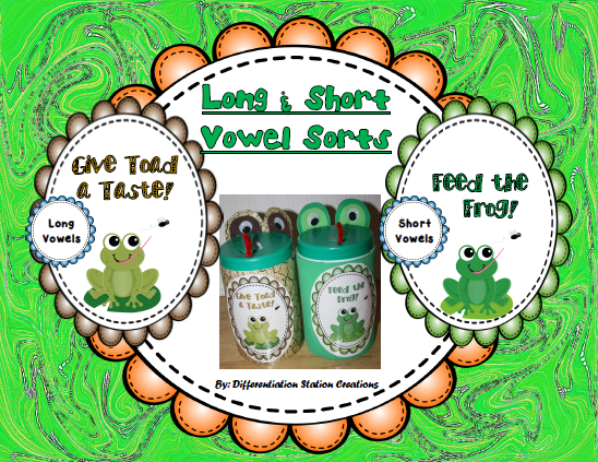 http://www.teacherspayteachers.com/Product/FREE-Frog-and-Toad-Sort-Long-and-Short-Vowel-Words-1164906