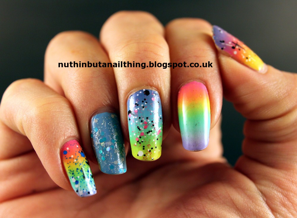 nuthin\' but a nail thing: Pastel Rainbow Gradient