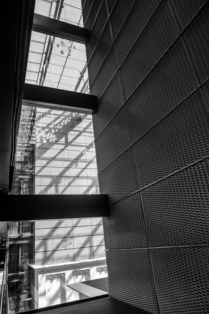 Matthew G. Beall vision driven black and white fine art photography  2013    Frankfurt Airport Hilton Lines and Shadows 3