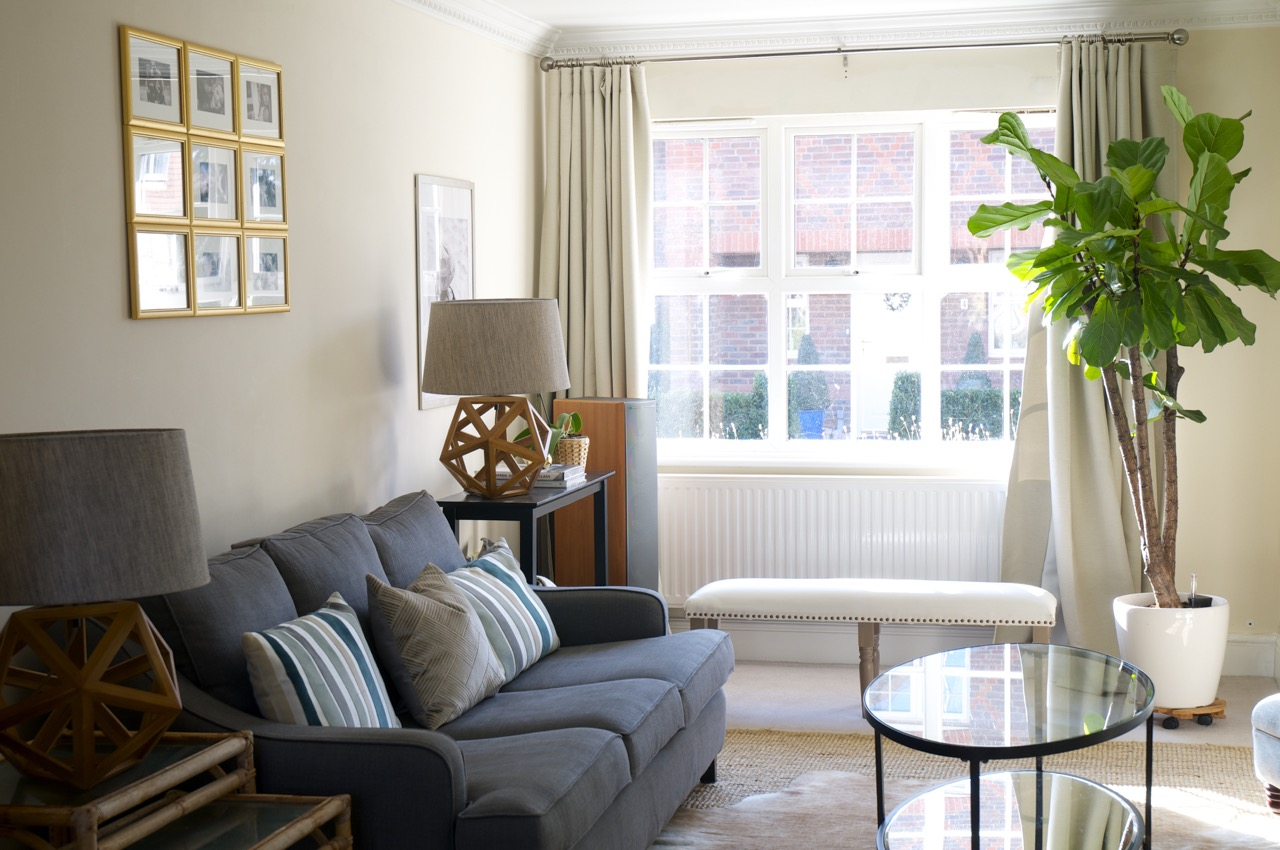 The Stylish Interior - Living room with TKMaxx lamps