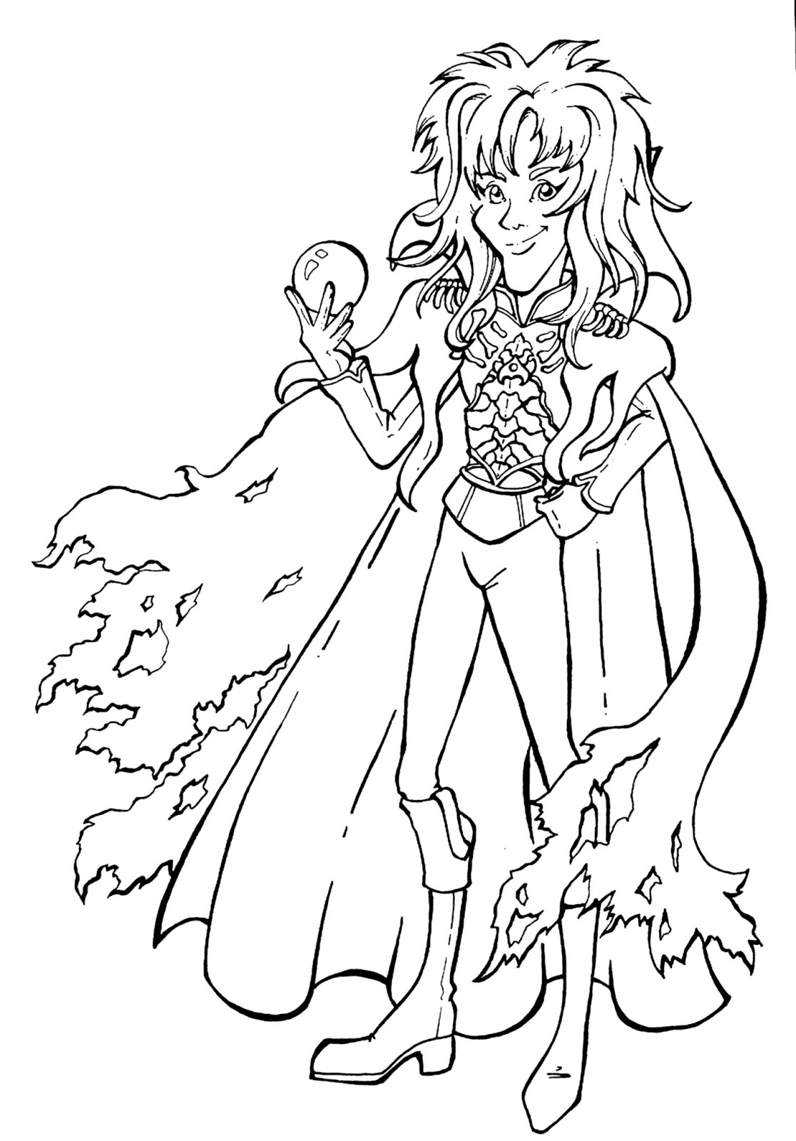Jareth Anime Labyrinth Coloring Pages Labyrinth Coloring Pages