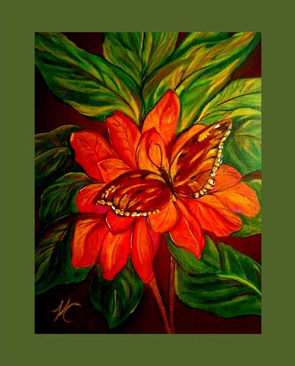 """Butterfly among the leaves"" ®"