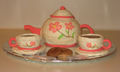 Tea Set Cake - Teapot, Teacups, Cookies, and Tea Bags 2