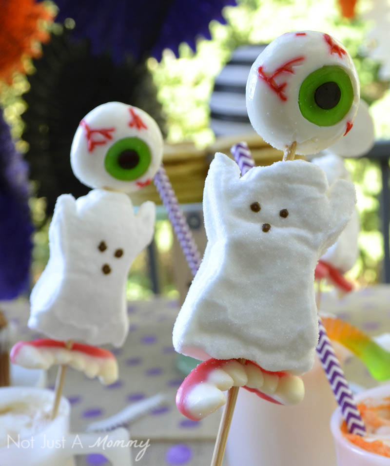 BOO It Forward Party candy skewers