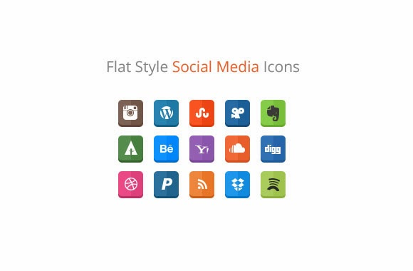 Flat style social icon