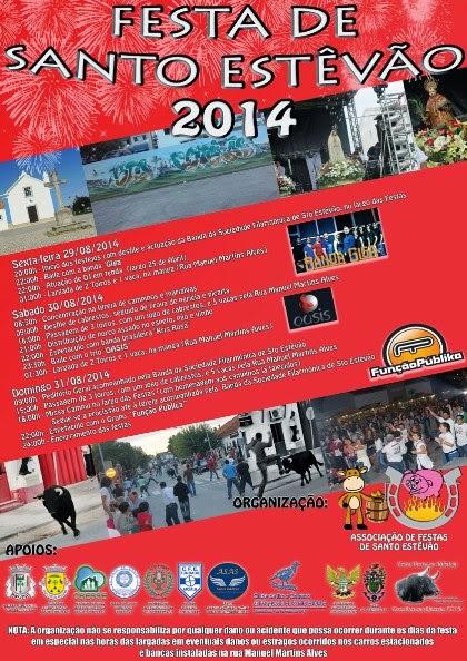 Stº Estêvão(Benavente)- Festas Populares 2014- 29 a 31 Agosto