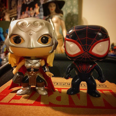 "Marvel Collector Corps Exclusive ""Secret Wars"" Thor & Ultimate Spider-Man Pop! Marvel Vinyl Figures by Funko"
