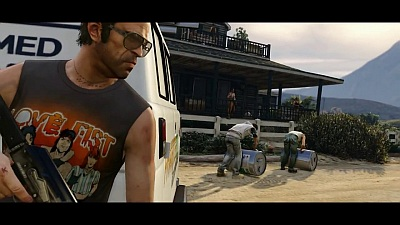 Grand Theft Auto V (Game) - 'A Picket Fence and a Dog Named Skip' Trailer - Song / Music