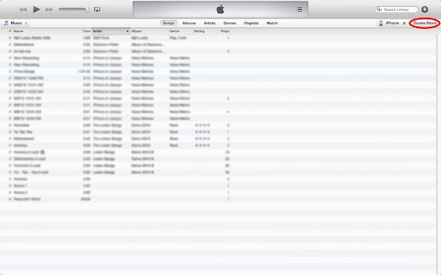 iTunes on Mac Os X