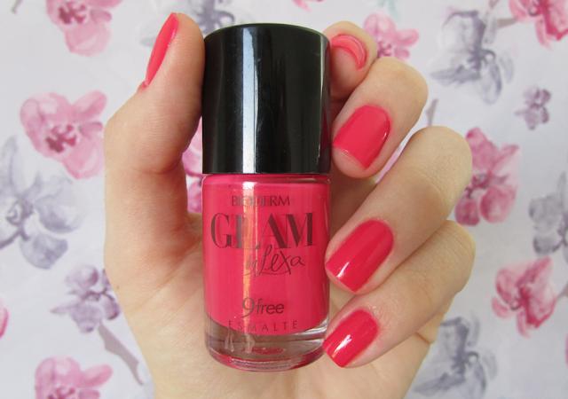 Unha, esmalte, Rosa Chiclete, Glam by Lexa, Bioderm