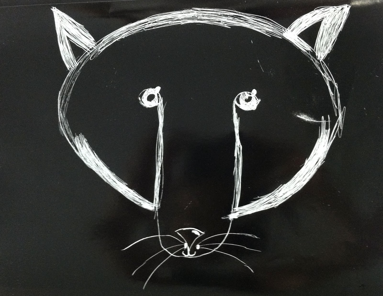 Kindergarten Fox Scratch Art