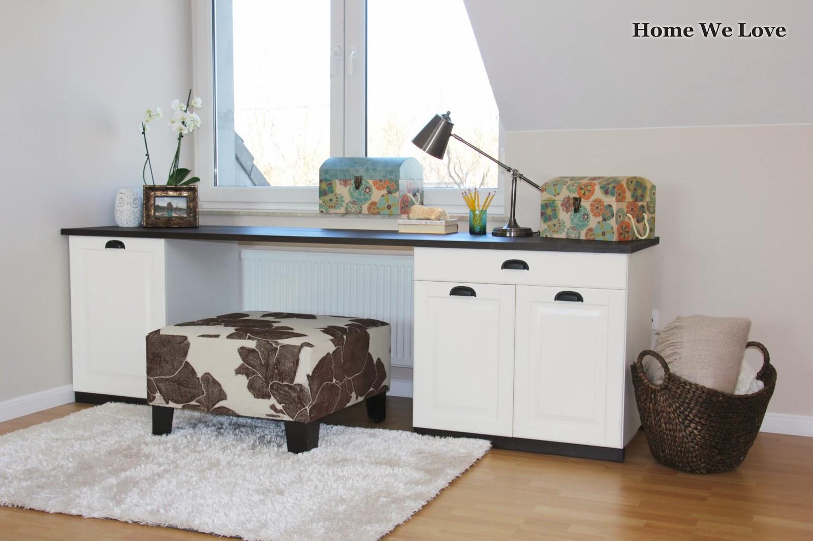 Home We Love Biurko z szafek IKEA   DIY.