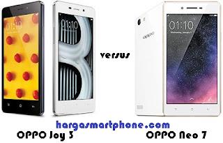 Harga dan Perbedaan OPPO Joy 3 dengan Neo 7