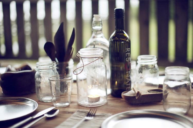 un dia de campo con los amigos -decoración campestre mesa