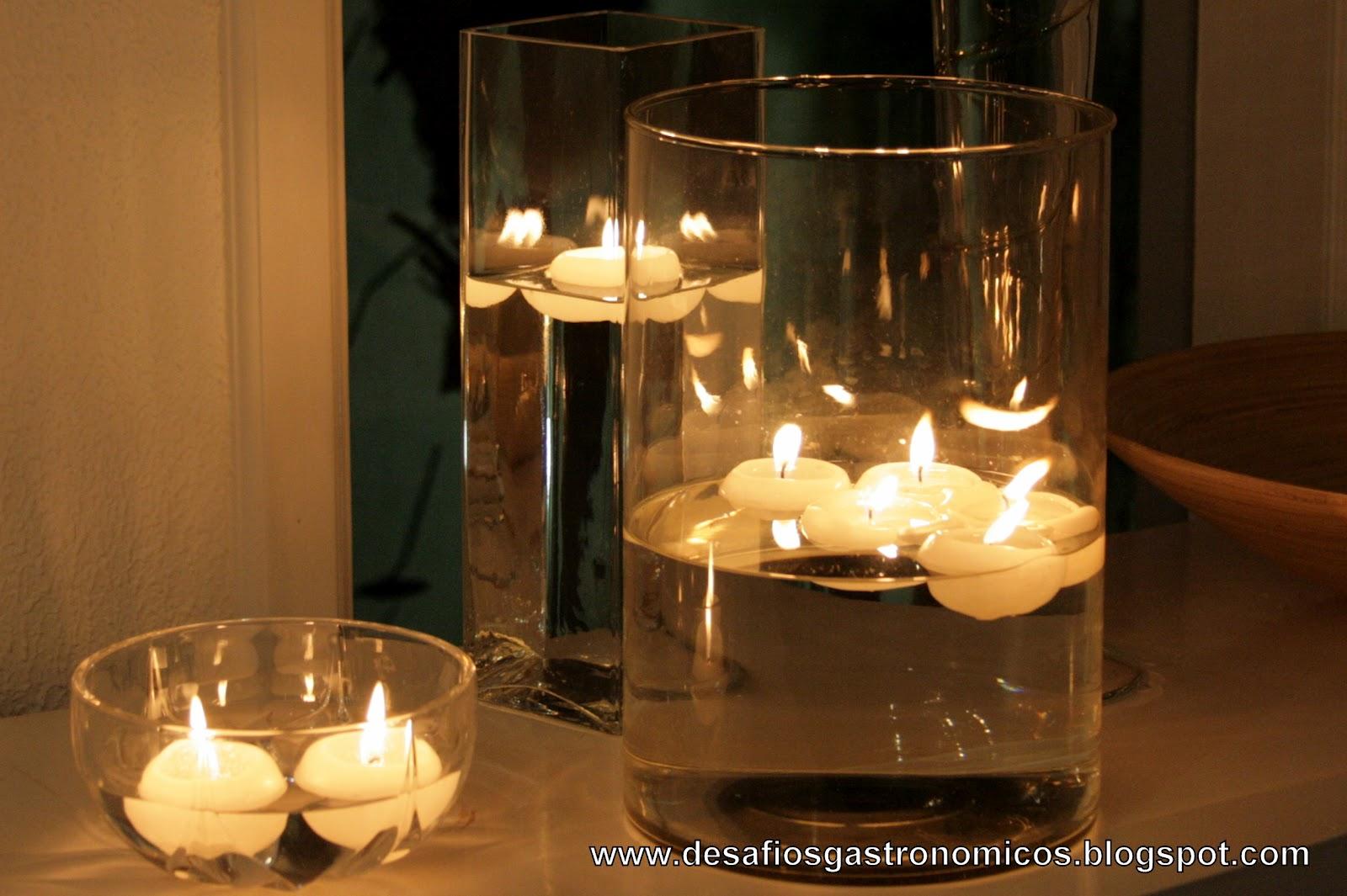 Desafios gastron micos desafio decorar a casa com velas muitas velas - Velas de agua ...