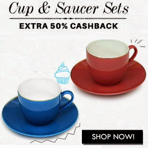Buy Cup & Saucer Sets at 50% Paytm cashback on Rs.599 : BuyToEarn