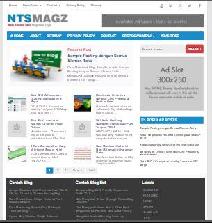 NTS Magz Template SEO Terbaru