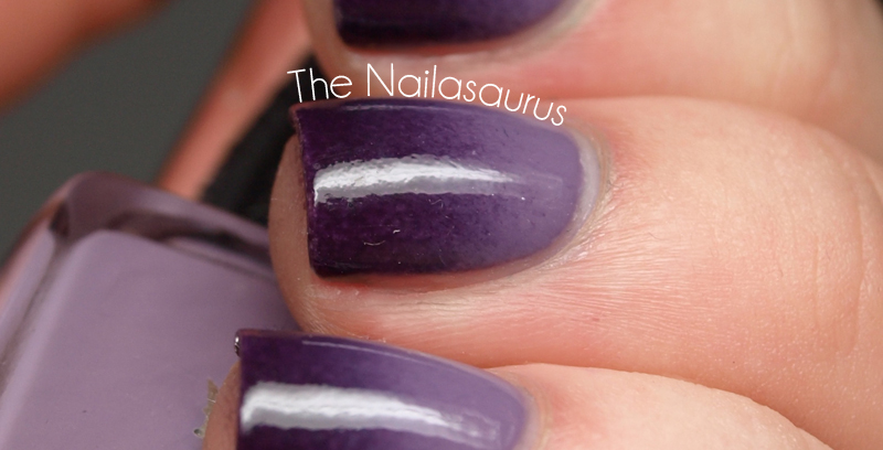 Purple Gradient Nail Art