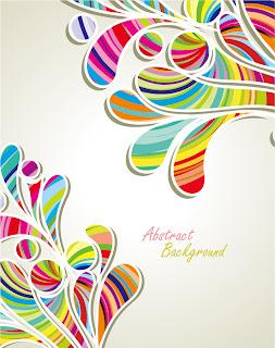 曲線をカラフルに配色した背景 fashion pattern background イラスト素材