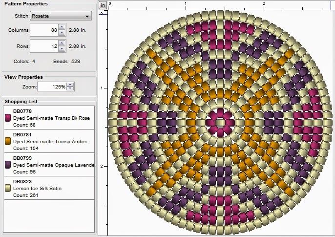 free round beading patterns