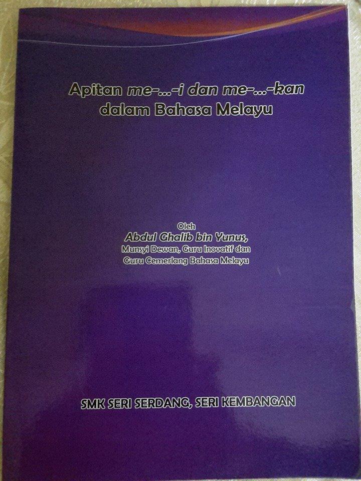 Buku `Apitan me-...-i dan me-...-kan dalam bahasa Melayu