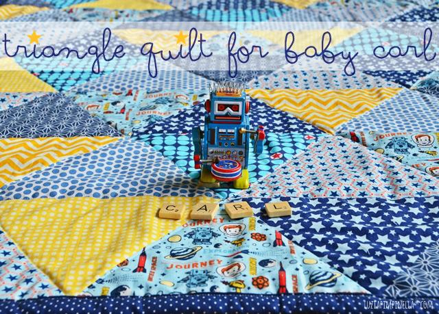 DIY | selbstgenähte baby decke - handmade triangle quilt | luzia pimpinella