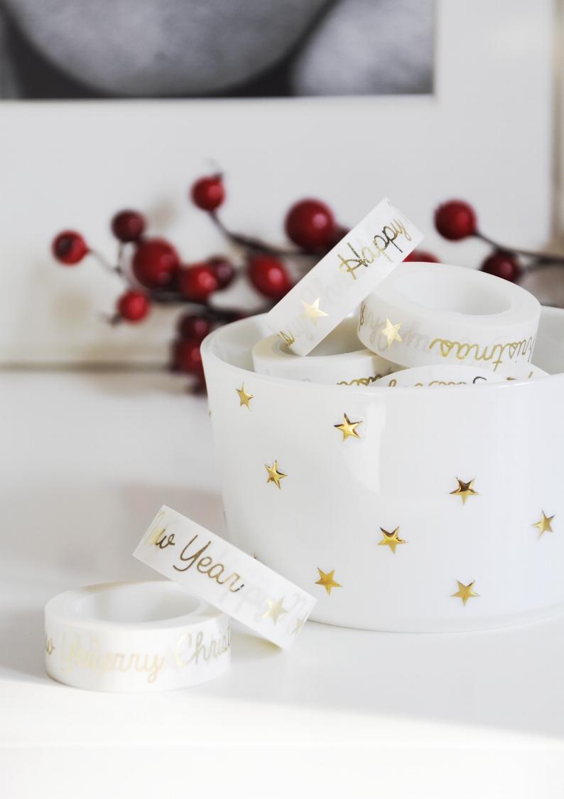 Taśma dekoracyjna Washi CHRISTMAS