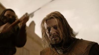 Eddard Stark a punto de ser decapitado - Juego de Tronos en los siete reinos