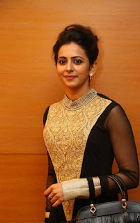 Actress Rakul Preet Singh Pictures in Stylish Long Dress at Harinath Wedding Reception  4