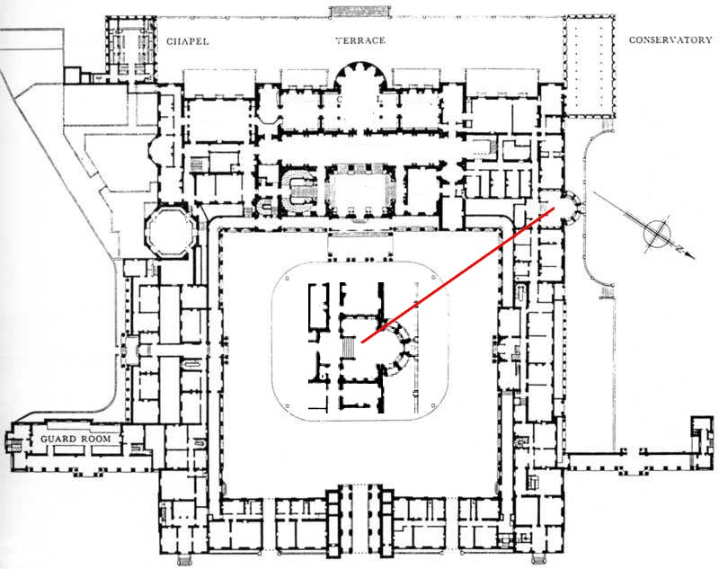 Houses of state buckingham palace for Palace plan