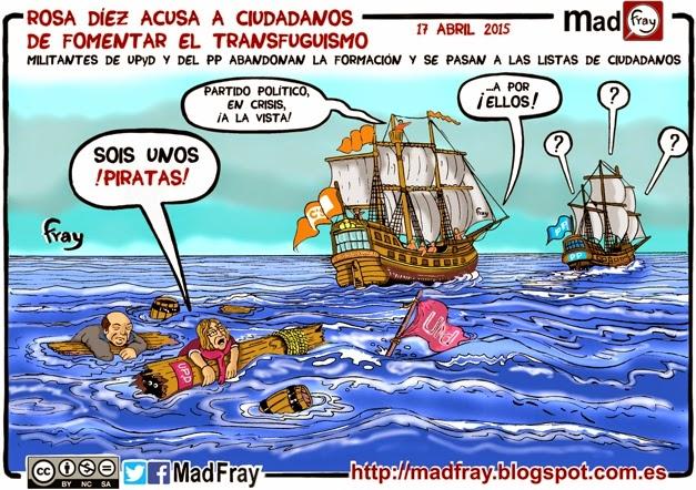 viñeta, Piratas que sois unos piratas, el naufragio de UPYD