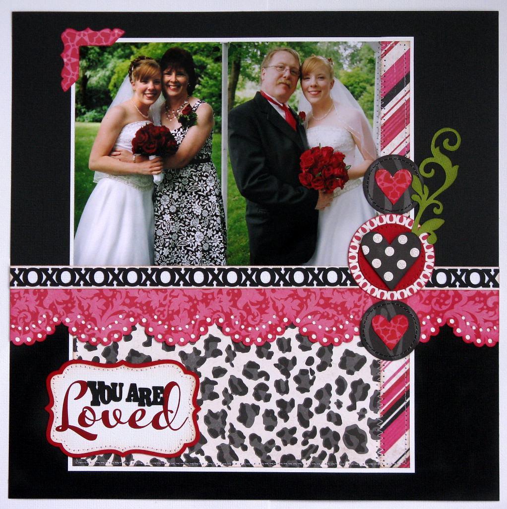 Wedding scrapbook ideas layouts - An Echo Park Love Story Wedding Layout
