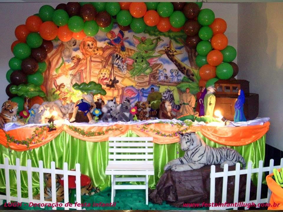 Tema Arca de Noé para decoração de aniversário infantil