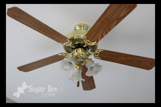 Bedroom Update - New Ceiling Fan - Sugar Bee Crafts