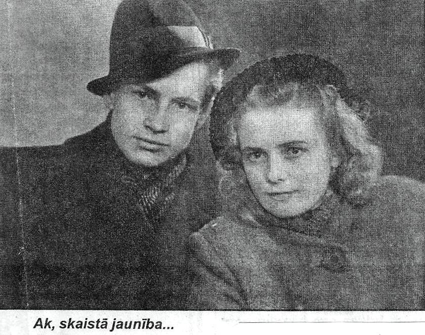 Alberts un Valda Grūbes (apmēram 1947. gads)
