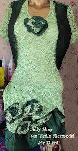 Rochie ocazie din dantela verde