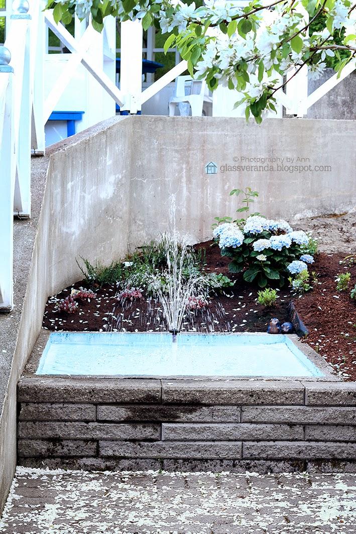 Glassveranda: vi bygger steinbed med vannspeil/dam   del 5: den ...