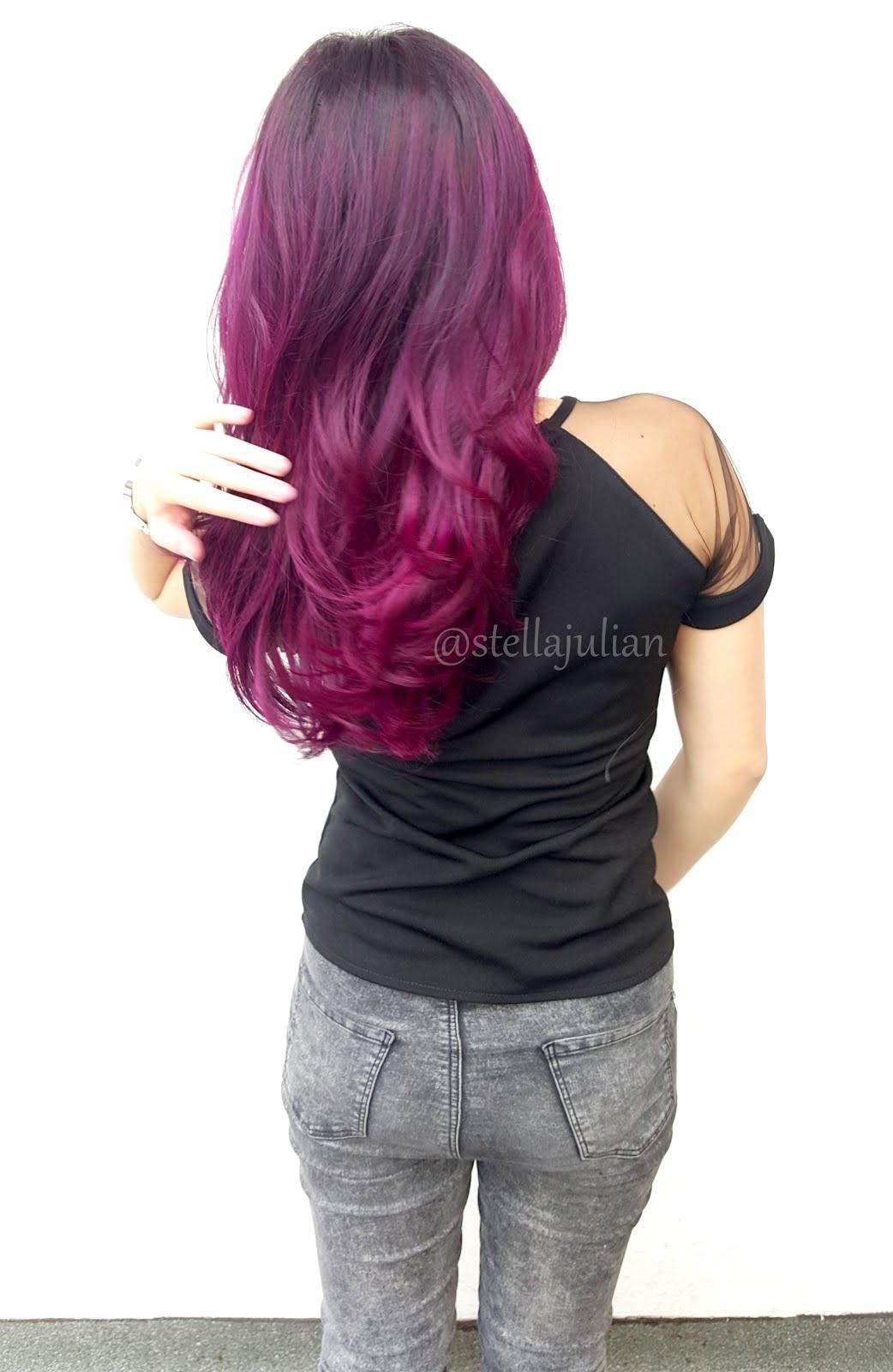 New Purple Hair My Colorful Journey Stella Julian Semir Rambut Hi Top