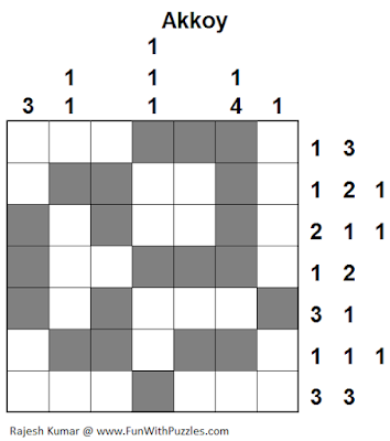 Akkoy (Logical Puzzles Series #7) Solution
