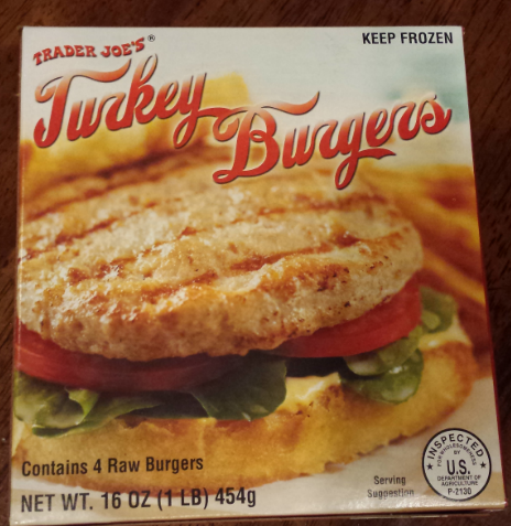 frozen turkey burgers
