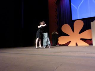 Bec & Shelly Hugging