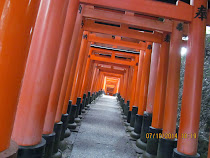 Multi-Torii Gate pathway, Fushimi-Inari Shrine, Kyoto, Japan